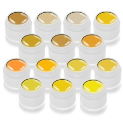 Color Gel 14x5ml Serie Gelbtöne Musterpaket