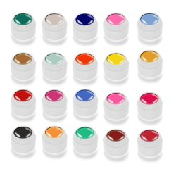 Color Gel SET 1 - 20 Farben á 5ml - Studioline