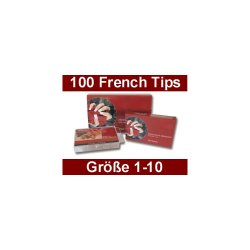 French White Tip-Box, 100 Stück - Gr.1-10